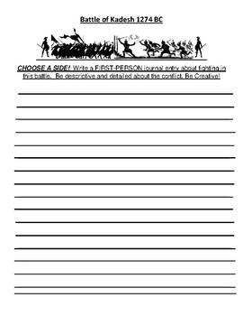 Battle of Kadesh Creative writing Assignment