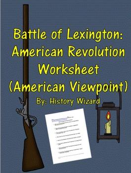 Battle of Lexington: American Revolution Worksheet (Americ