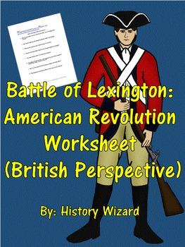 Battle of Lexington: American Revolution Worksheet (British Perspective)