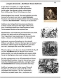 Battle of Lexington and Concord (34) - poem, worksheets, puzzle