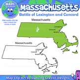 Battle of Lexington and Concord - Map of Massachusetts