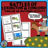 The Battle of Lexington and Concord Timeline Activity
