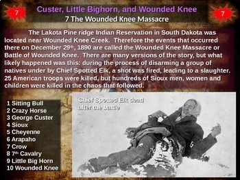 Battle of Little Bighorn (Custer's Last Stand) COMIC STRIP ACTIVITY (20 slides))