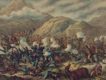 """Battle of Little Bighorn - Recreating the """"Custer's Last Stand"""" Painting"""