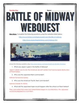 Battle of Midway - Webquest with Key (World War II)