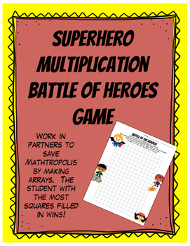 Battle of Multiplication Heroes Array Game