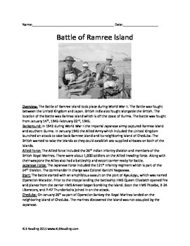Battle of Ramree Island - World War II  Article Questions Facts Info Activities