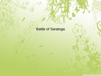 Battle of Saratoga PowerPoint
