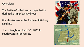 Battle of Shiloh - Pittsburg Landing Civil War Battle powerpoint history review