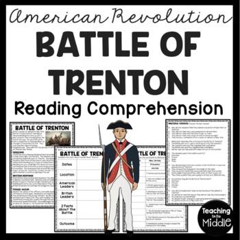 Battle of Trenton Reading Comprehension; American Revolution