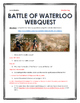 Battle of Waterloo - Webquest with Key (Napoleon)