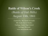 Battle of Wilson's Creek PowerPoint Presentation