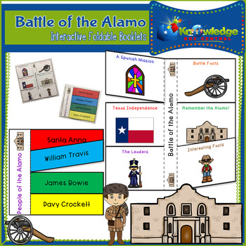 Battle of the Alamo Interactive Foldable Booklets - EBOOK