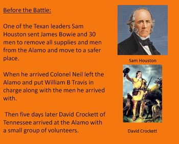 Battle of the Alamo - Power Point - 15 slides history facts pictures