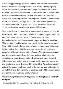 Battle of the Atlantic Handout