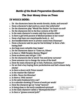 Battle of the Books 2016 The Year Money Grew on Trees Prep Kit
