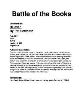 Battle of the Books - Bluefish
