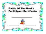 Battle of the Books Certificate