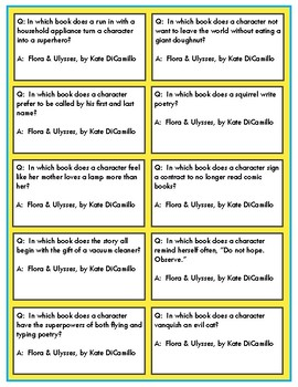 Battle of the Books Game Questions: Flora & Ulysses by Kate DiCamillo