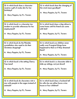 Battle of the Books Game Questions: Mary Poppins by PL Travers