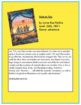 Battle of the Books Game Questions: Nuts to You by Lynne Perkins