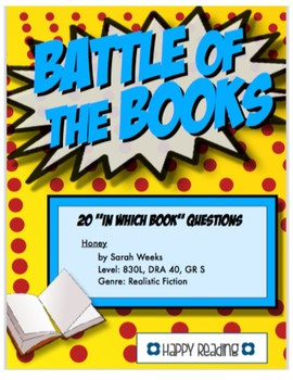 Battle of the Books Game Questions: Honey by Sarah Weeks
