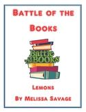 Battle of the Books: Lemons by Melissa Savage