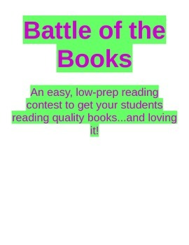Battle of the Books! Low Prep EDITABLE Reading Contest for Grades 2-4