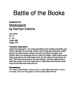 Battle of the Books - Mockingbird