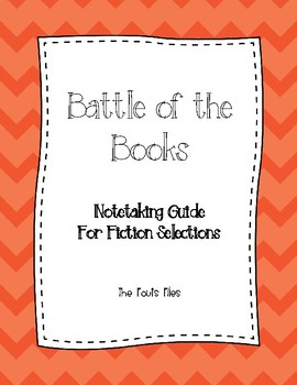Battle of the Books Notetaking Guide and Plot Chart