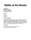 Battle of the Books - Paper Towns