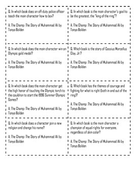 """Battle of the Books Question Set: """"The Champ: The Story of Muhammad Ali"""""""