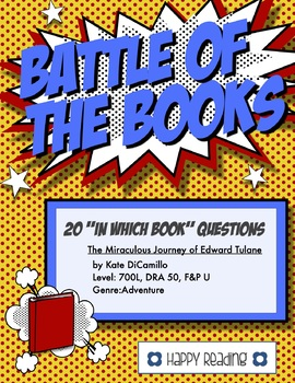 """Battle of the Books Question Set: """"The Miraculous Journey of Edward Tulane"""""""