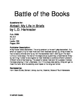 Battle of the Books Questions - Airball: My Life in Shorts