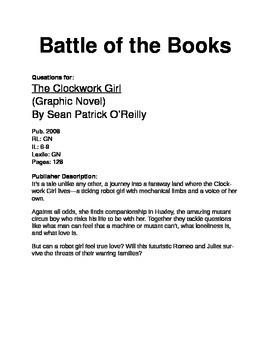 Battle of the Books Questions - Clockwork Girl