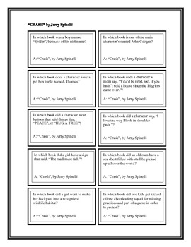 """Battle of the Books Questions: """"Crash"""", by Jerry Spinelli"""
