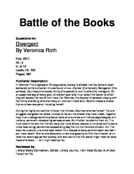 Battle of the Books Questions - Divergent
