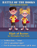 Battle of the Books Questions: Elijah of Buxton by Christo