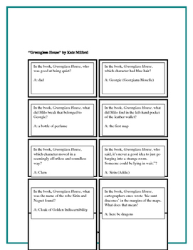 Battle of the Books Questions - Greenglass House