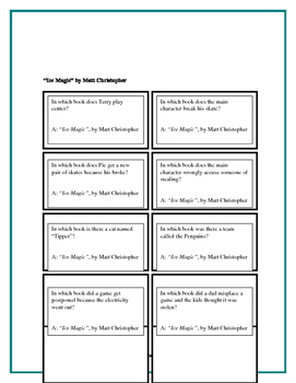 Battle of the Books Questions - Ice Magic