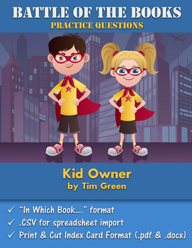 Battle of the Books Questions: Kid Owner by Tim Green