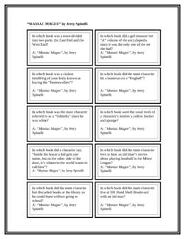 """Battle of the Books Questions: """"Maniac Magee"""", by J. Spinelli"""