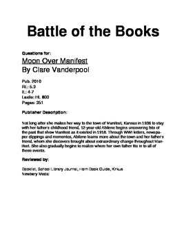 Battle of the Books Questions - Moon Over Manifest