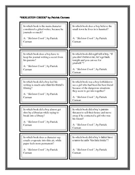 """Battle of the Books Questions:  """"Skeleton Creek"""", by P. Carman"""