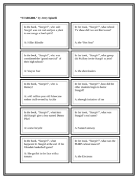"""Battle of the Books Questions: """"Stargirl"""", by Jerry Spinelli"""