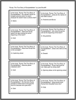 """Battle of the Books Questions: """"Rump: The True Story..."""" by Liesl Shurtliff"""