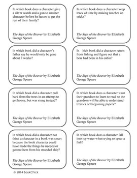 Battle of the Books Questions: The Sign of the Beaver by Elizabeth George Speare