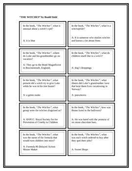 """Battle of the Books Questions: """"The Witches"""" by Roald Dahl"""