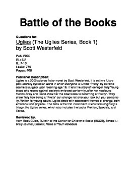 Battle of the Books Questions - Uglies