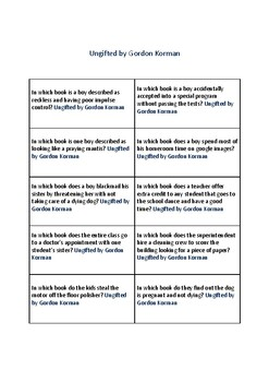 Battle of the Books Questions: Ungifted by Gordon Korman